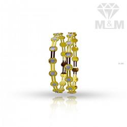 Delightful Gold Rhodium Bangle