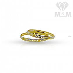 Dramatic Gold Rhodium Bangle