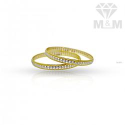 Splendid Gold Rhodium Bangle