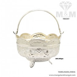 Handsome Silver Pooja Basket