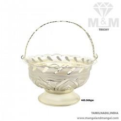 Humble Silver Pooja Basket