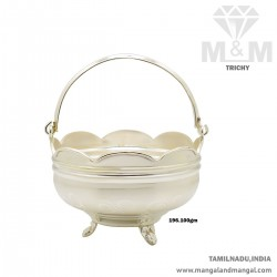 Impossibly Silver Pooja Basket