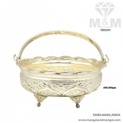 Incredible Silver Pooja Basket