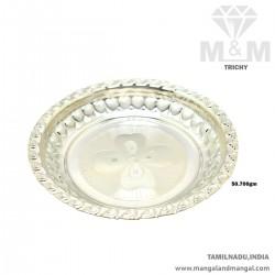 Tranquil Silver Fancy Plate