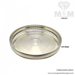 Glamorous Silver Fancy Plate