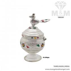 Classy Silver Kumkum Chimizh