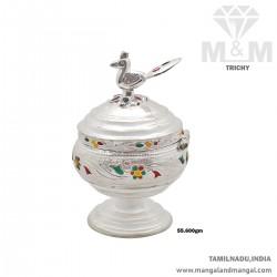 Alluring Silver Kumkum Chimizh