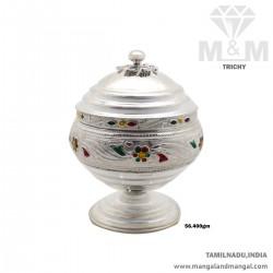Pristine Silver Kumkum Chimizh