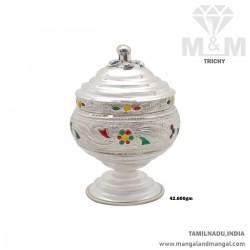 Awesome Silver Kumkum Chimizh