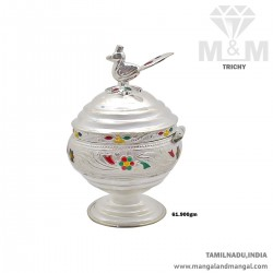 Tasteful Silver Kumkum Chimizh