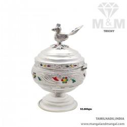 Rustic Silver Kumkum Chimizh