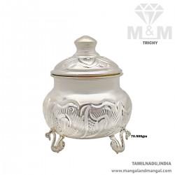 Blessed Silver Kumkum Chimizh