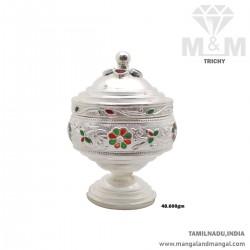 Auspicious Silver Kumkum Chimizh