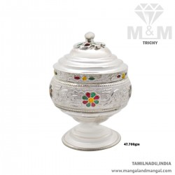 Decent Silver Kumkum Chimizh