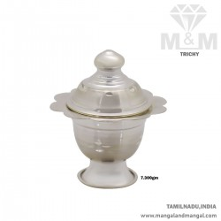 Elegant Silver Kumkum Chimizh