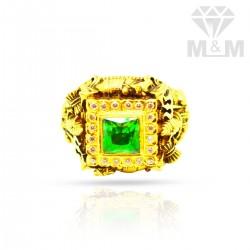 Graceful Gold Nagas Stone Ring