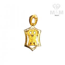 Divine Gold Balaji Pendant