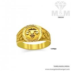 Verdant Gold Men Fancy Ring