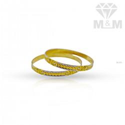 Beauteous Gold Rhodium Bangle