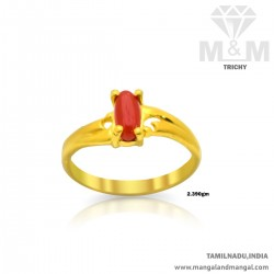 Inspired Gold Women Coral Ring
