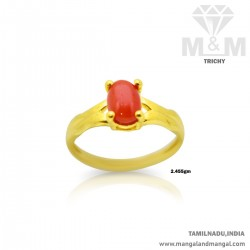 Nice Gold Women Coral Ring