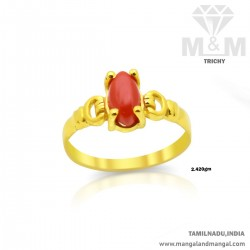 Sightly Gold Women Coral Ring