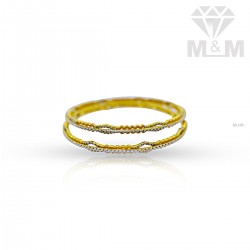 Exquisite Gold Rhodium Bangle