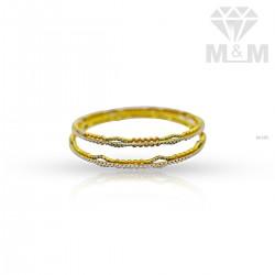 Exquisite Gold Rhodium Bangle