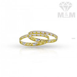 Glamorous Gold Rhodium Bangle