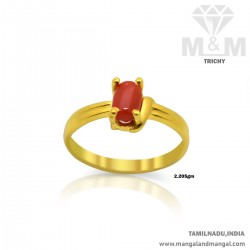 Majestic Gold Women Coral Ring