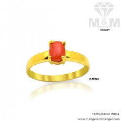 Captivate Gold Women Coral Ring