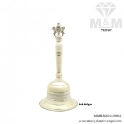 Splendid Silver Pooja Bell