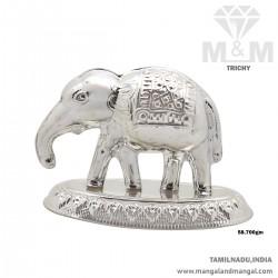 Handsome Silver Elephant Idol