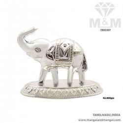 Humble Silver Elephant Idol
