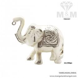 Inspired Silver Elephant Idol