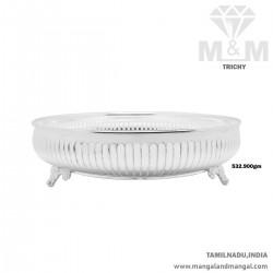 Esthetic Silver Thambulam Plate