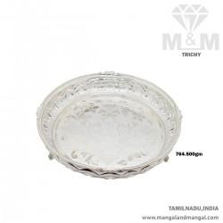 Sweetest Silver Thambulam Plate