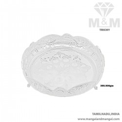 Awesome Silver Thambulam Plate