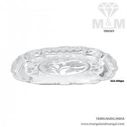 Sumptous Silver Thambulam Plate