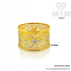 Wonderful Gold Broad Bangle