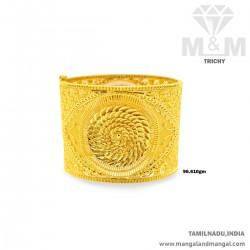 Wonderfully Gold Broad Bangle