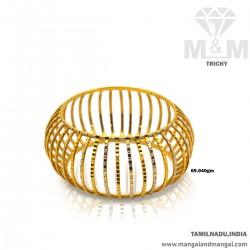 Wondrous Gold Broad Bangle