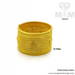 Prettiest Gold Broad Bangle