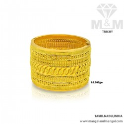 Tranquil Gold Broad Bangle
