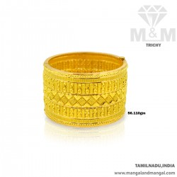Sweetest Gold Broad Bangle