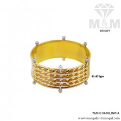 Popular Gold Broad Bangle