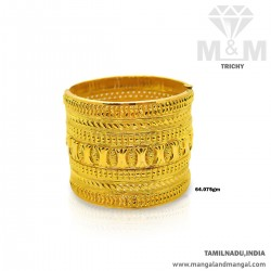 Satisfactory Gold Broad Bangle