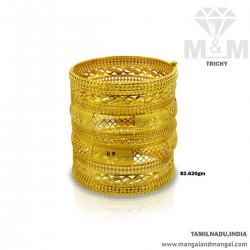 Renowned Gold Broad Bangle