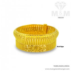 Memorable Gold Broad Bangle