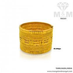 Distinction Gold Broad Bangle